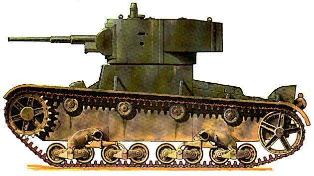 Танк Т-26, расцветка