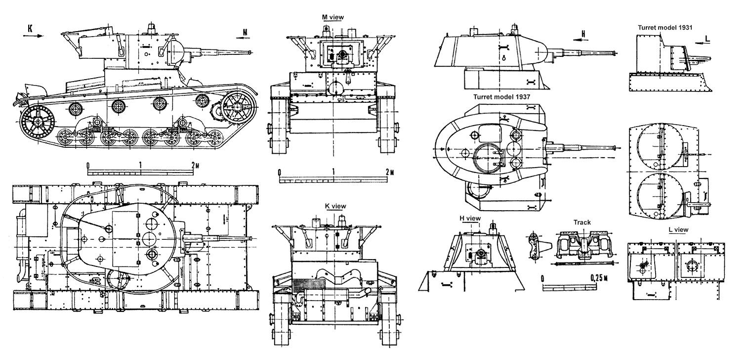 Танк Т-26, детализация