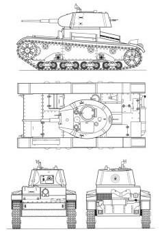 Танк Т-26, чертёж танка
