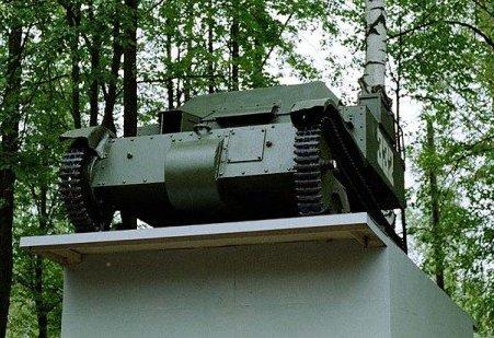 Танк Т-27, вид спереди снизу