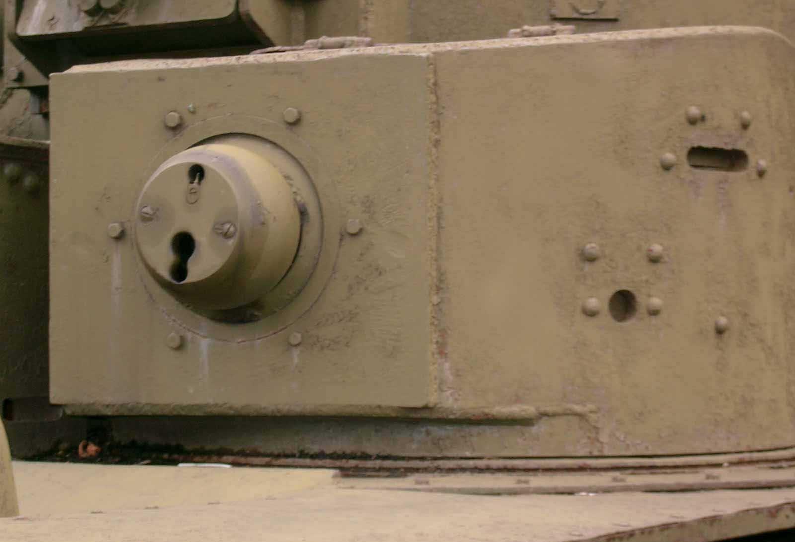 Танк Т-28, пулемётное гнездо