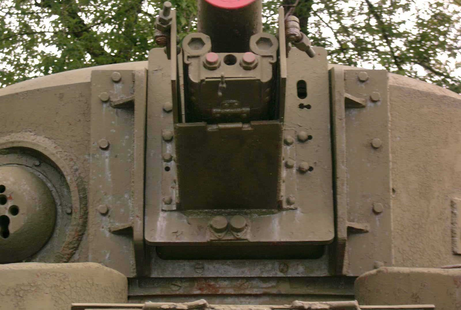 Танк Т-28, башня, вид спереди