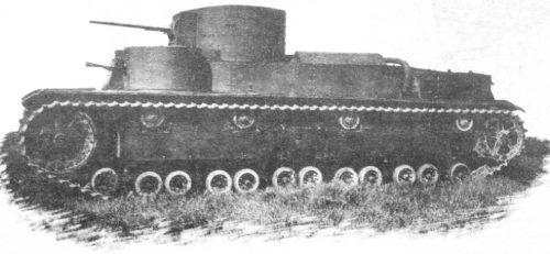 Танк Т-28 в поле