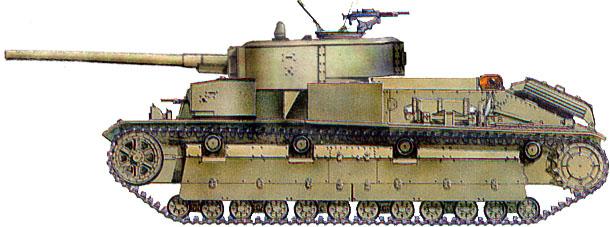 Танк Т-28, схема окраски, вид слева