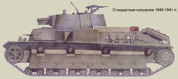 Танк Т-28, стандартный камуфляж