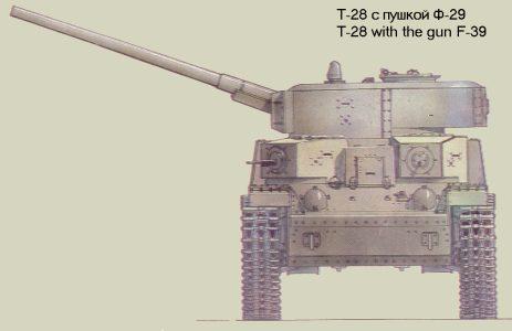 Танк Т-28 с пушкой Ф-29