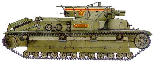 Танк Т-28, схема окраски, командирский танк