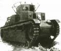 танк Т-28 на марше