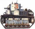 танк Т-28, схема окраски, зимний вариант