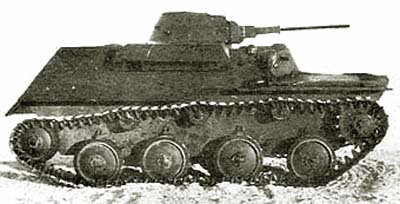 Танк Т-30, фотография, вид сбоку