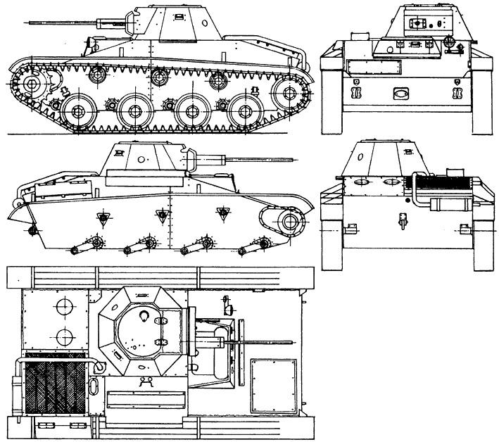 Танк Т-30, чертёж танка