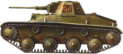Танк Т-30, вариант покраски