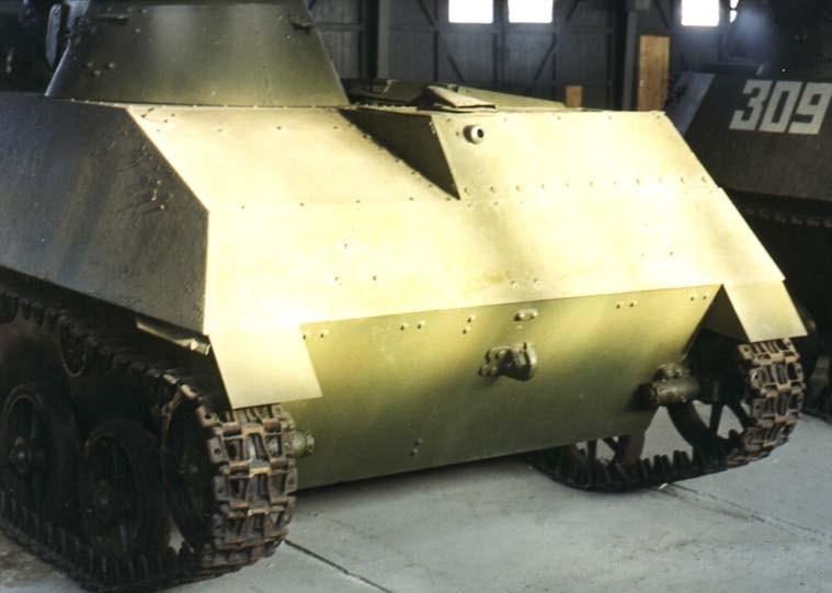 Танк Т-30, заднее бронирование