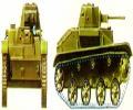 танк Т-30, вариант окраски, вид спереди и справа