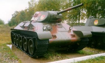 Танк Т-34/76 на выставке