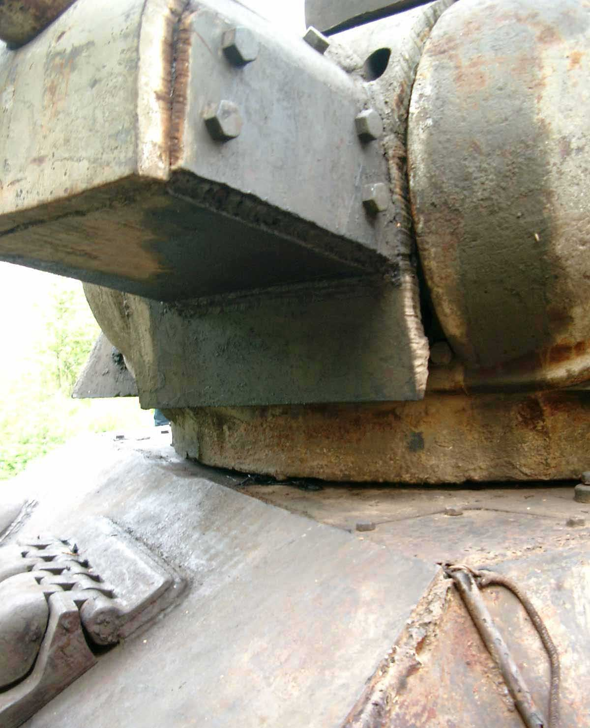 Танк Т-34/76, маска пушки