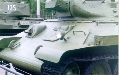 Танк Т-34/76, бронирование переда