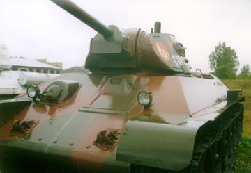 Танк Т-34/76, вид спереди