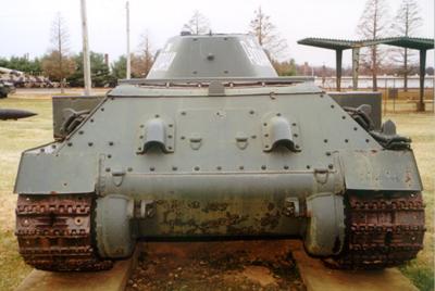Танк Т-34/76, заднее бронирование