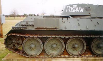 Танк Т-34/76, запасной трак