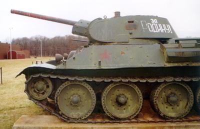 Танк Т-34/76, башня слева