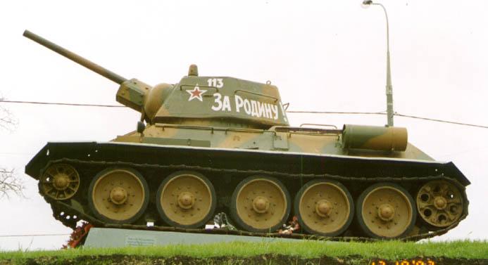 Танк Т-34/76, на постаменте