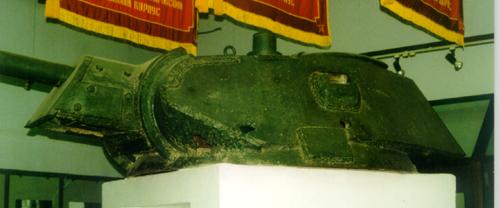 Танк Т-34/76, башня на постаменте