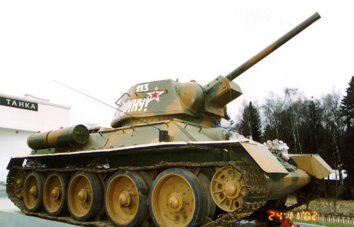 Танк Т-34/76 с дулом вверх
