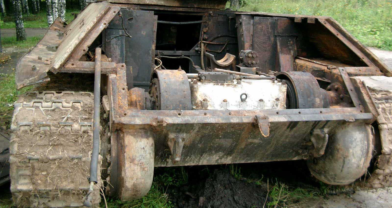 Танк Т-34/76 без заднего бронированного листа