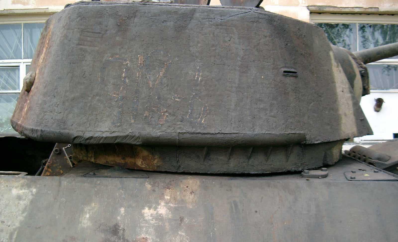 Танк Т-34/76, повёрнутая башня