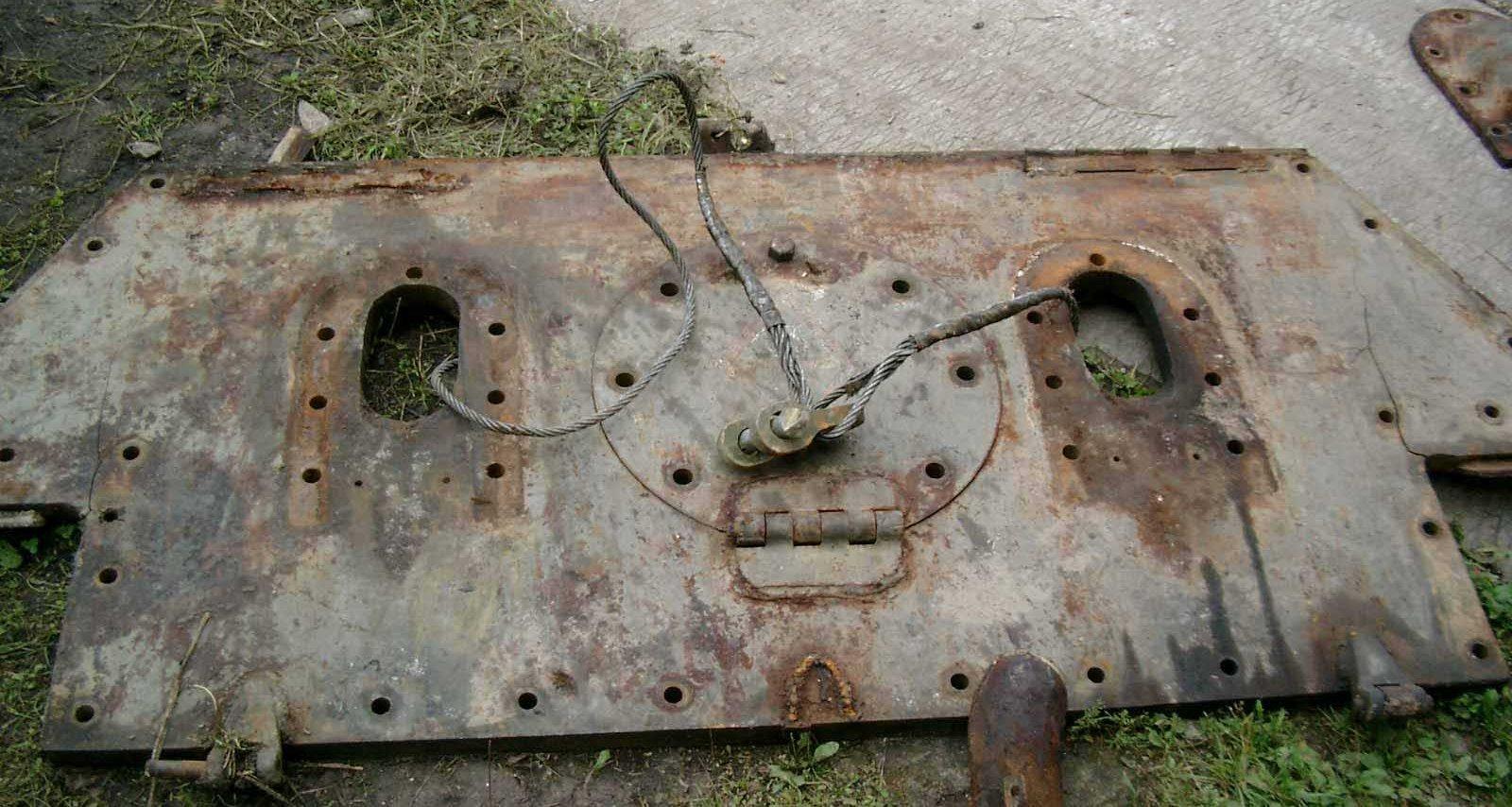 Танк Т-34/76, задний бронированный лист