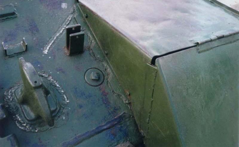 Танк Т-34/85, буксирные рымы