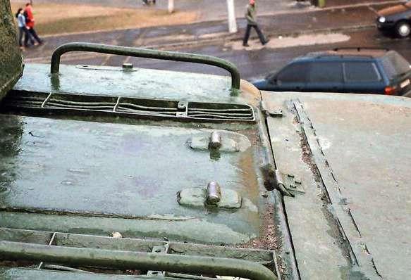 Танк Т-34/85, вид сзади сверху