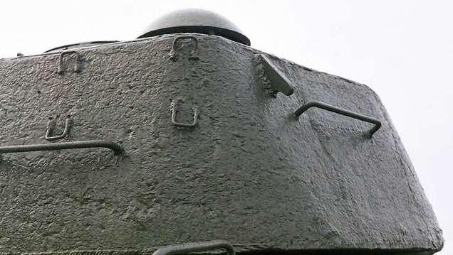 Танк Т-34/85, поручни на башне