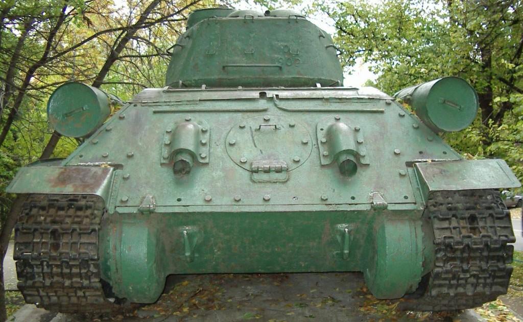 Танк Т-34/85, система выхлопа