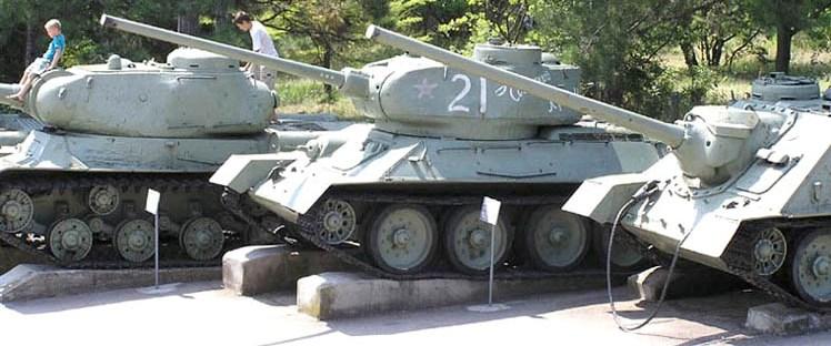 Танк Т-34/85, выставка