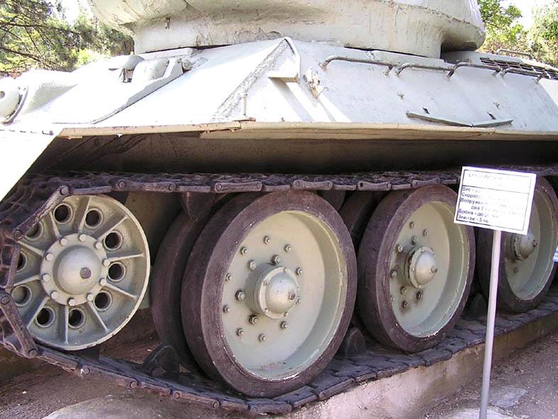 Танк Т-34/85, передняя часть подвески