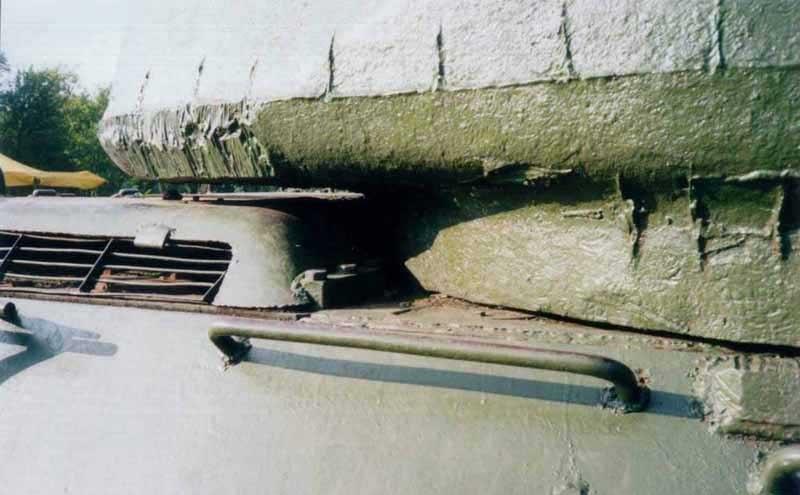 Танк Т-34/85, стык башни с корпусом