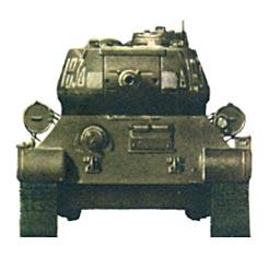 Танк Т-34/85, схема окраски, вид спереди