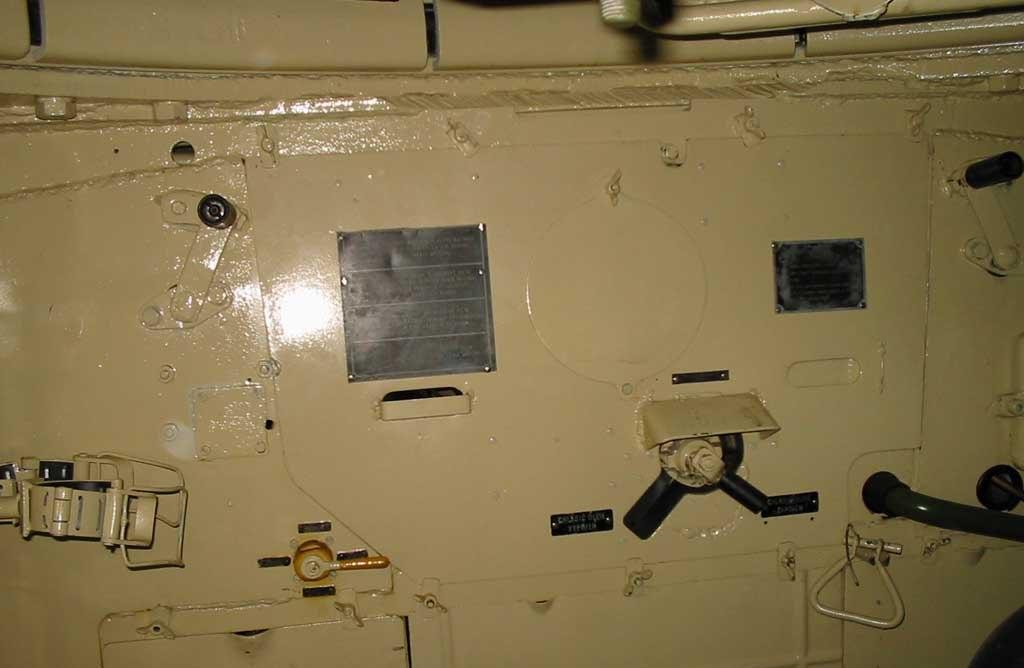 Танк Т-34/85, борт изнутри