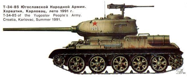 Танк Т-34/85 Югославской Народной Армии
