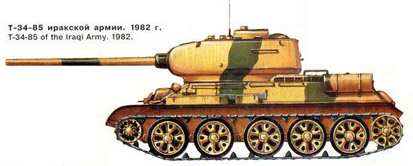 Танк Т-34/85 Иракской армии