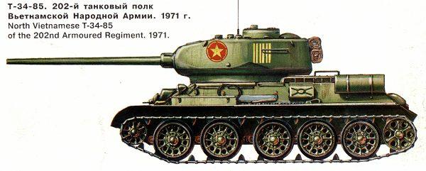 Танк Т-34/85, 202 танковый полк, Вьетнам