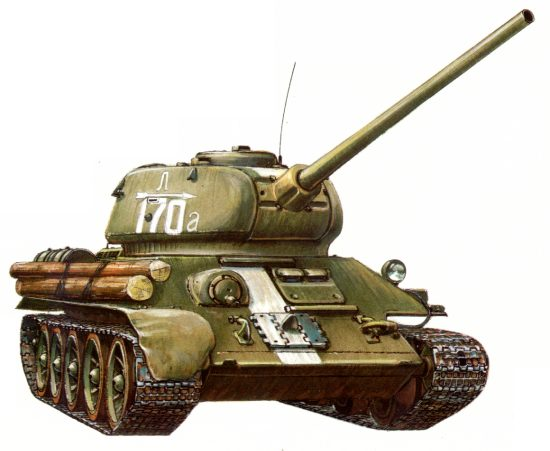 Танк Т-34/85, рисунок