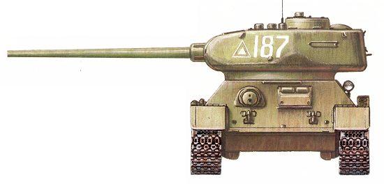 Танк Т-34/85, схема окраски