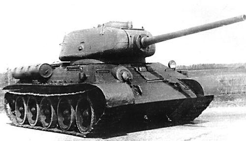 Танк Т-34/85, историческое фото