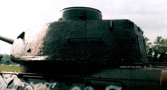 Танк Т-34/85, башня, вид слева
