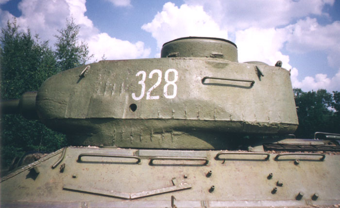 Танк Т-34/85, башня слева