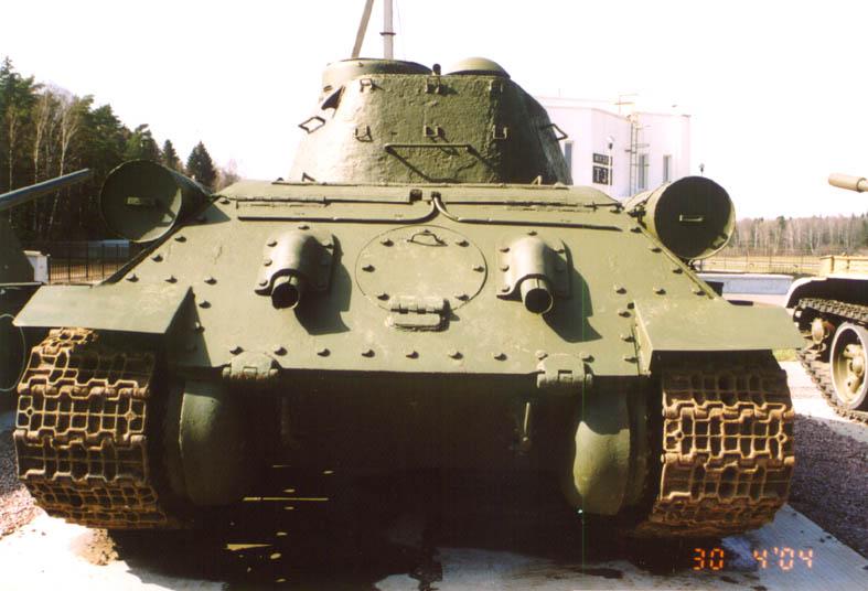 Танк Т-34/85, заднее бронирование