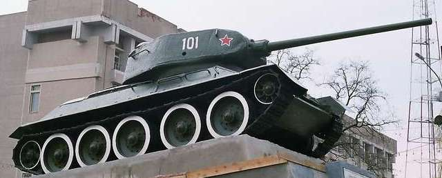 Танк Т-34/85, как экспонат